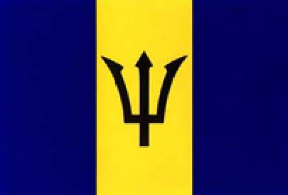 Barbados Flag Vertical